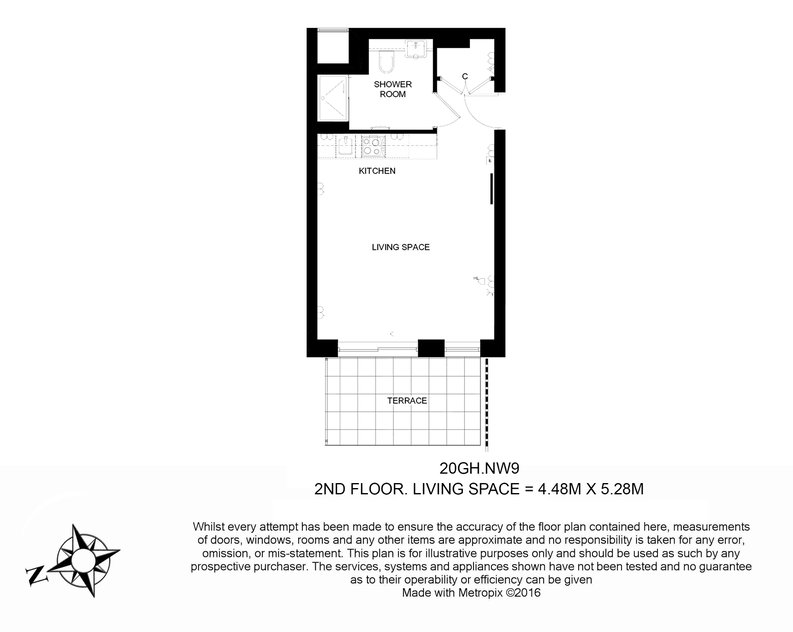 Studio apartment to sale in Golding House, 11 Beaufort Square, Colindale-Floorplan