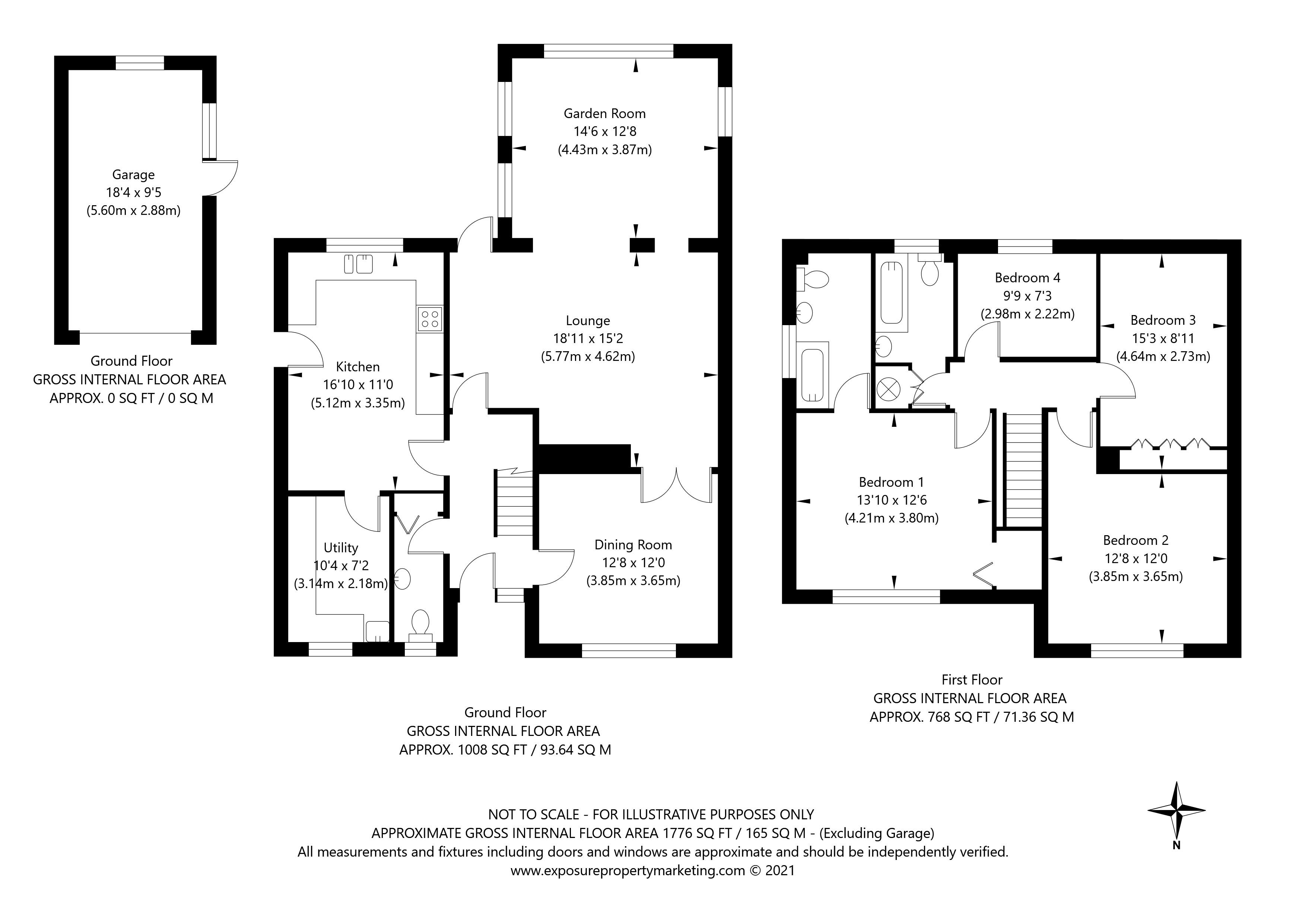 Melander Close, York property floorplan