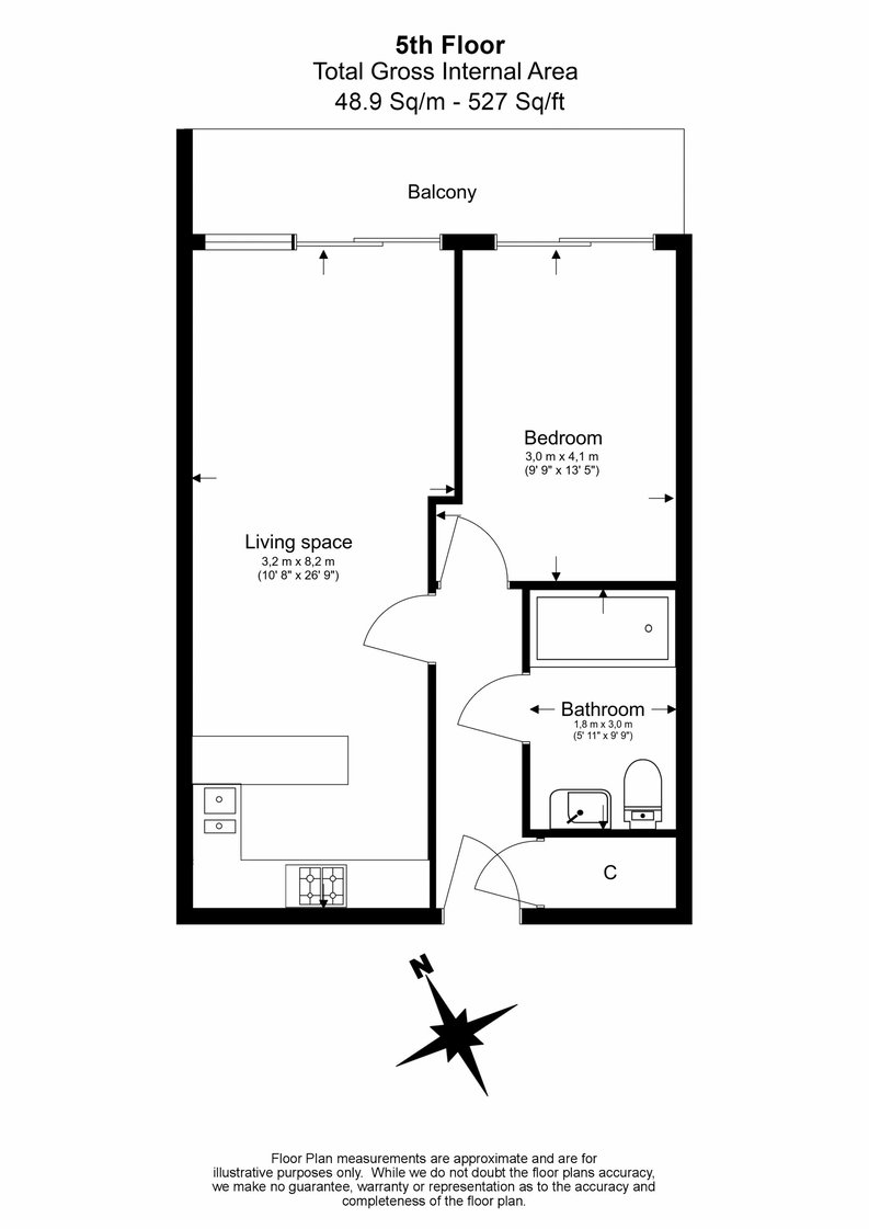1 bedroom(s) apartment to sale in Cavendish House, Boulevard Drive, Colindale, London-Floorplan