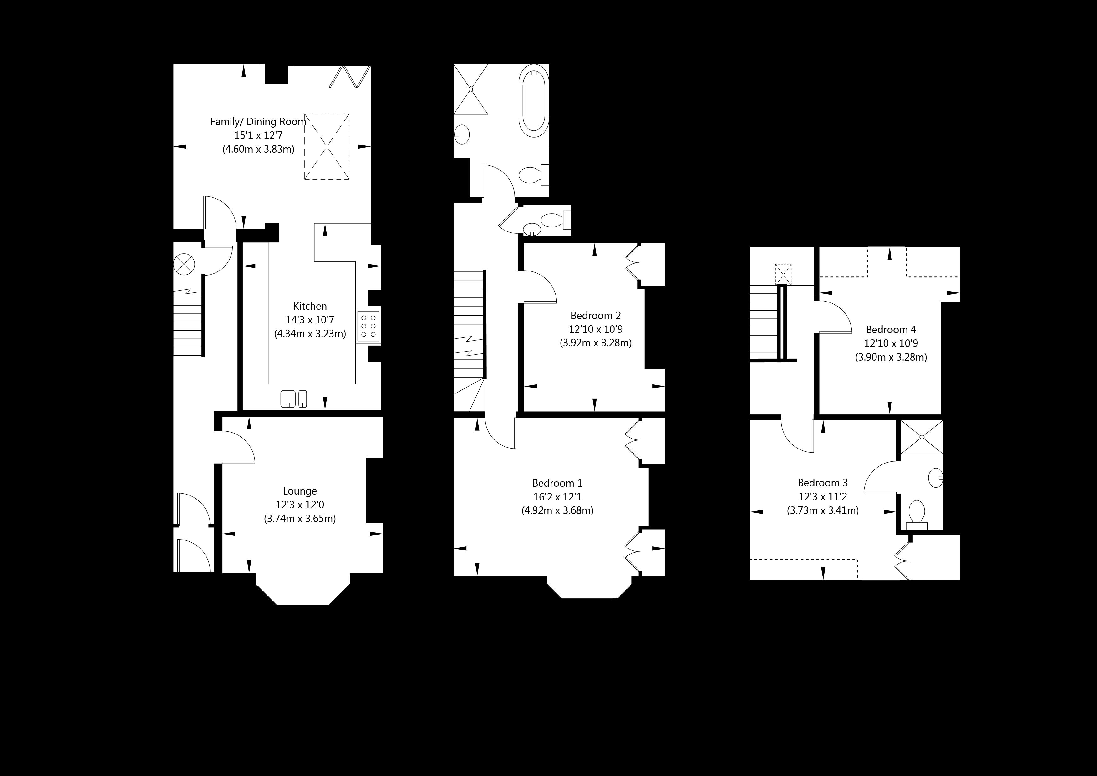 Grosvenor Terrace , York property floorplan