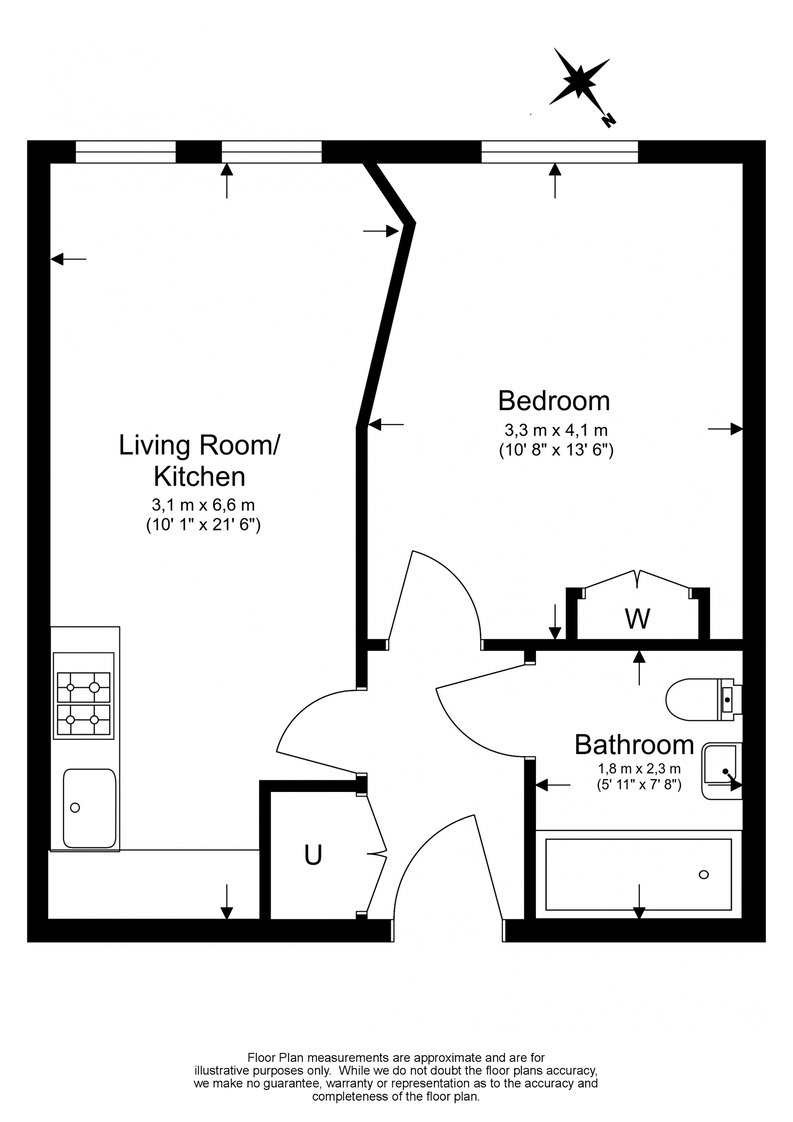 1 bedroom(s) apartment to sale in Cobalt Point, Lanterns Court, Millharbour, Canary Wharf-Floorplan