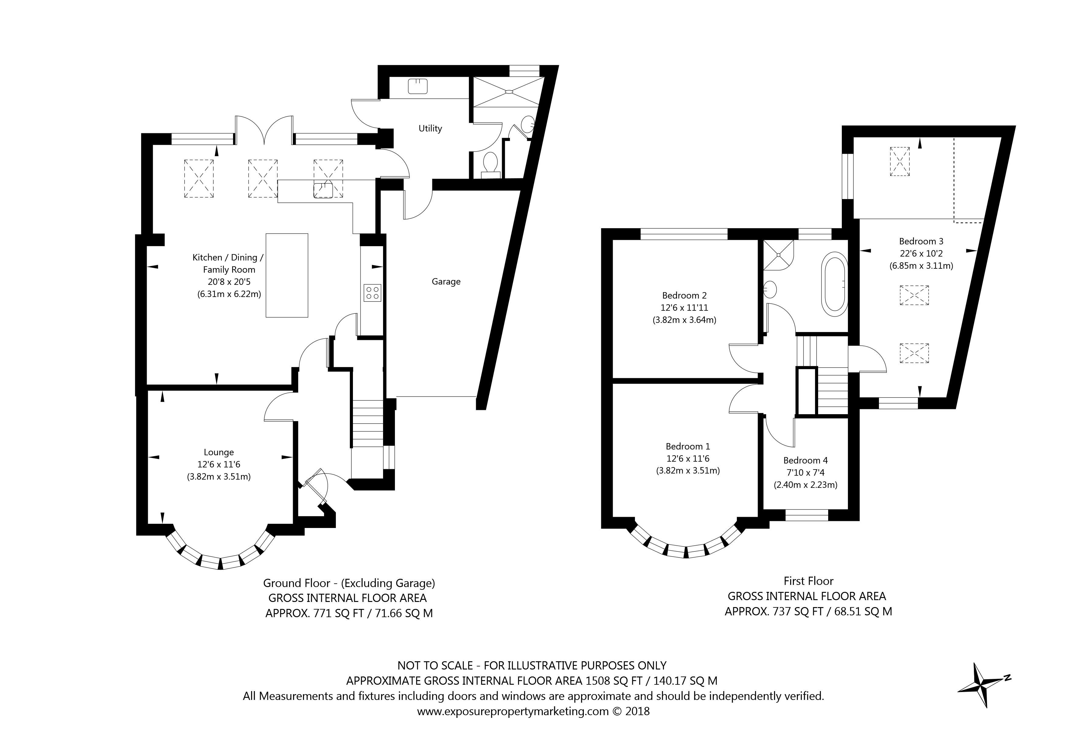 White House Gardens, York property floorplan