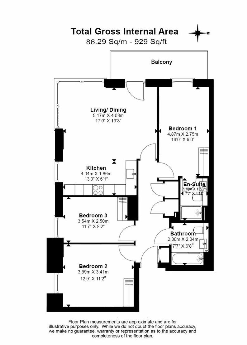 3 bedroom(s) apartment to sale in Olympic Way, Wembley, Greater London, London-Floorplan