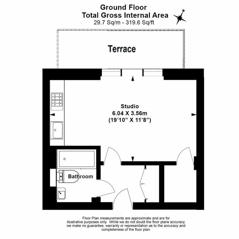 Studio apartment to sale in Napier House, Bromyard Avenue, London-Floorplan