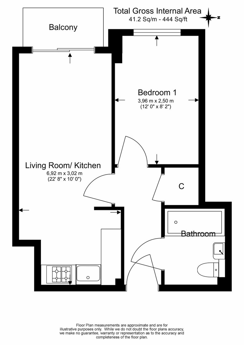1 bedroom(s) apartment to sale in Eldon House, Beaufort Park, Colindale-Floorplan