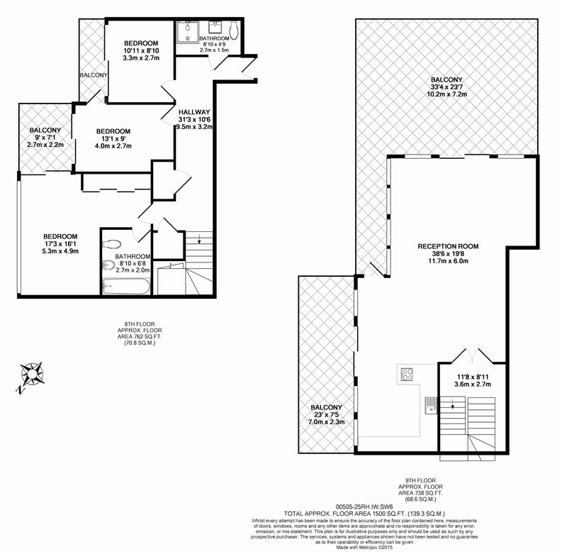 3 bedroom(s) apartment to sale in The Boulevard, Imperial Wharf, London-Floorplan