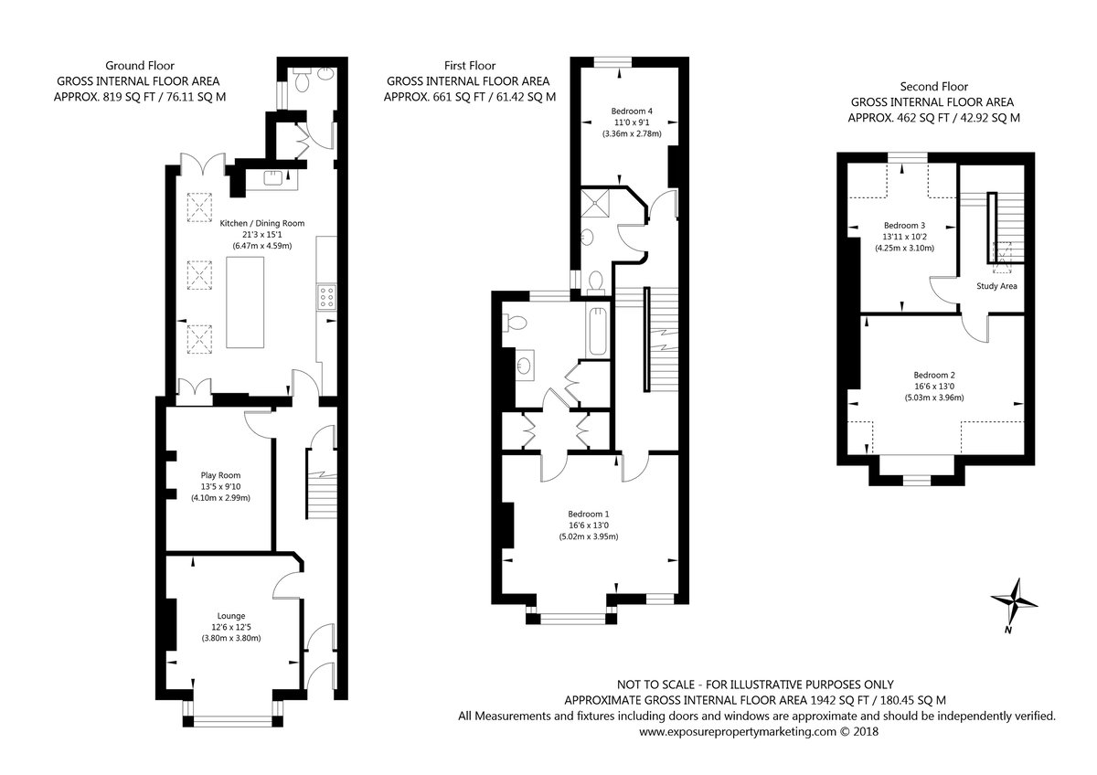East Parade, York property floorplan