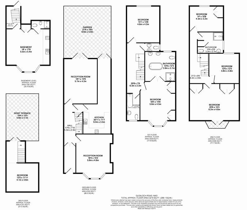 6 bedroom(s) house to sale in Glenloch Road, Belsize Park, London-Floorplan