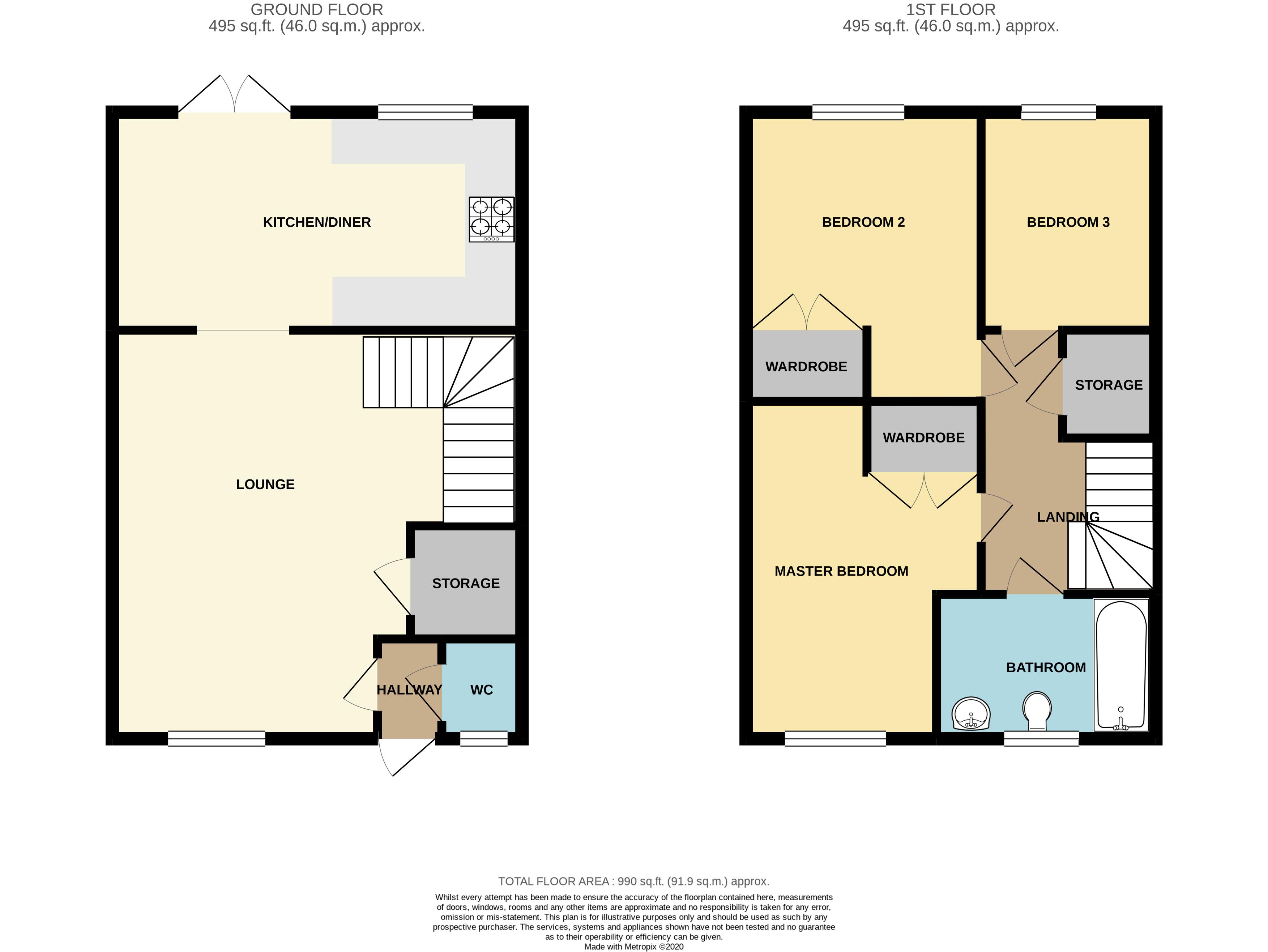 Floorplan for Star Avenue, Stoke Gifford.