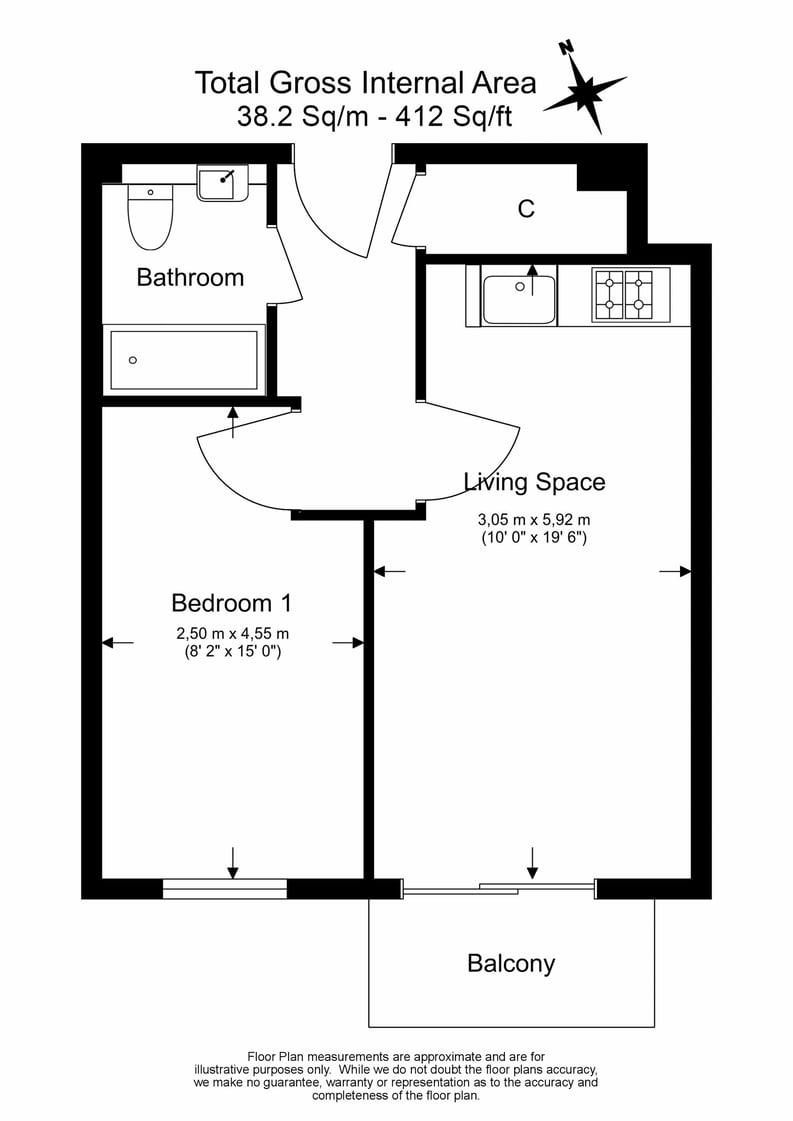 1 bedroom(s) apartment to sale in Heritage Avenue, Colindale, London-Floorplan