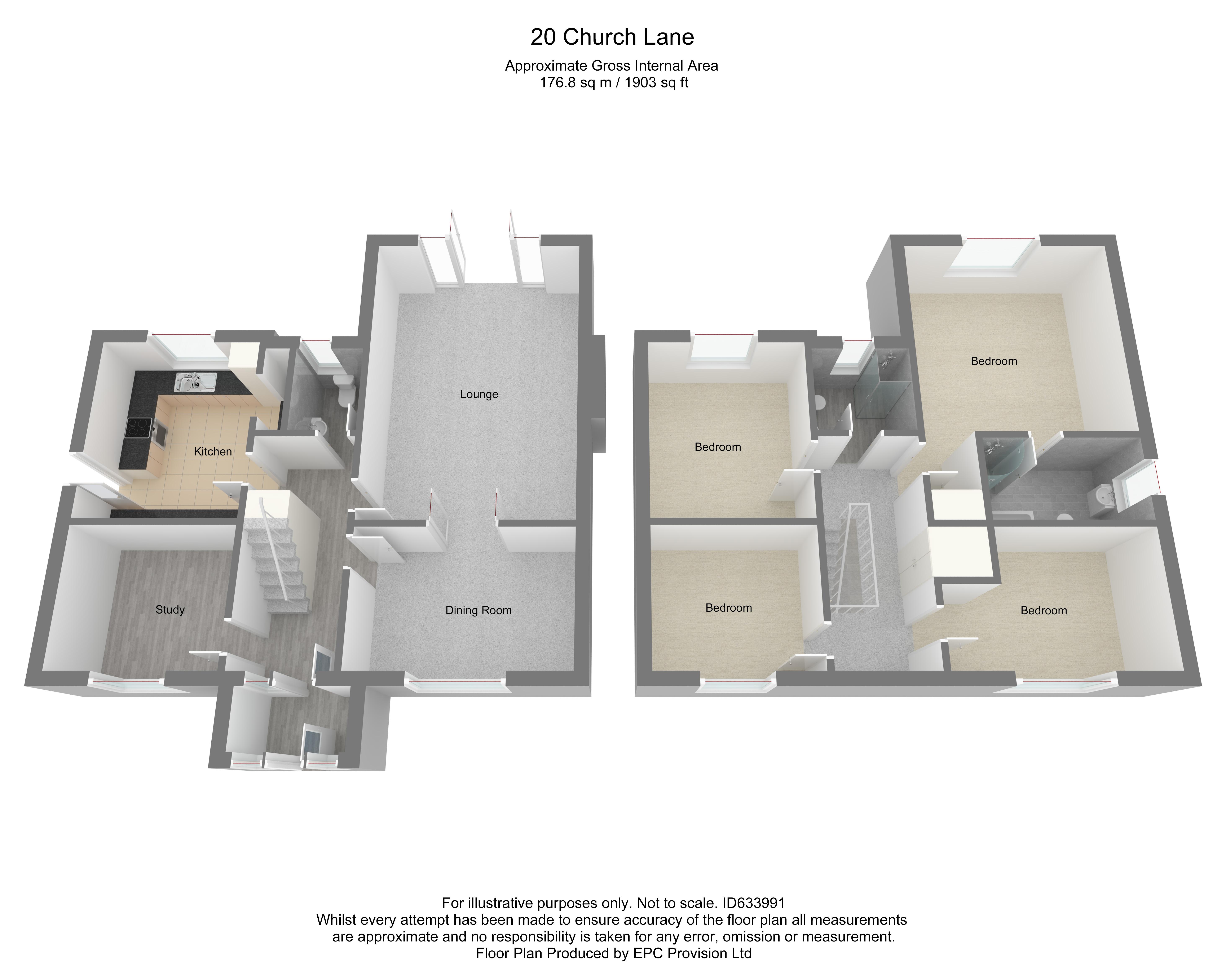 Floorplan for Church Lane, Coalpit Heath.
