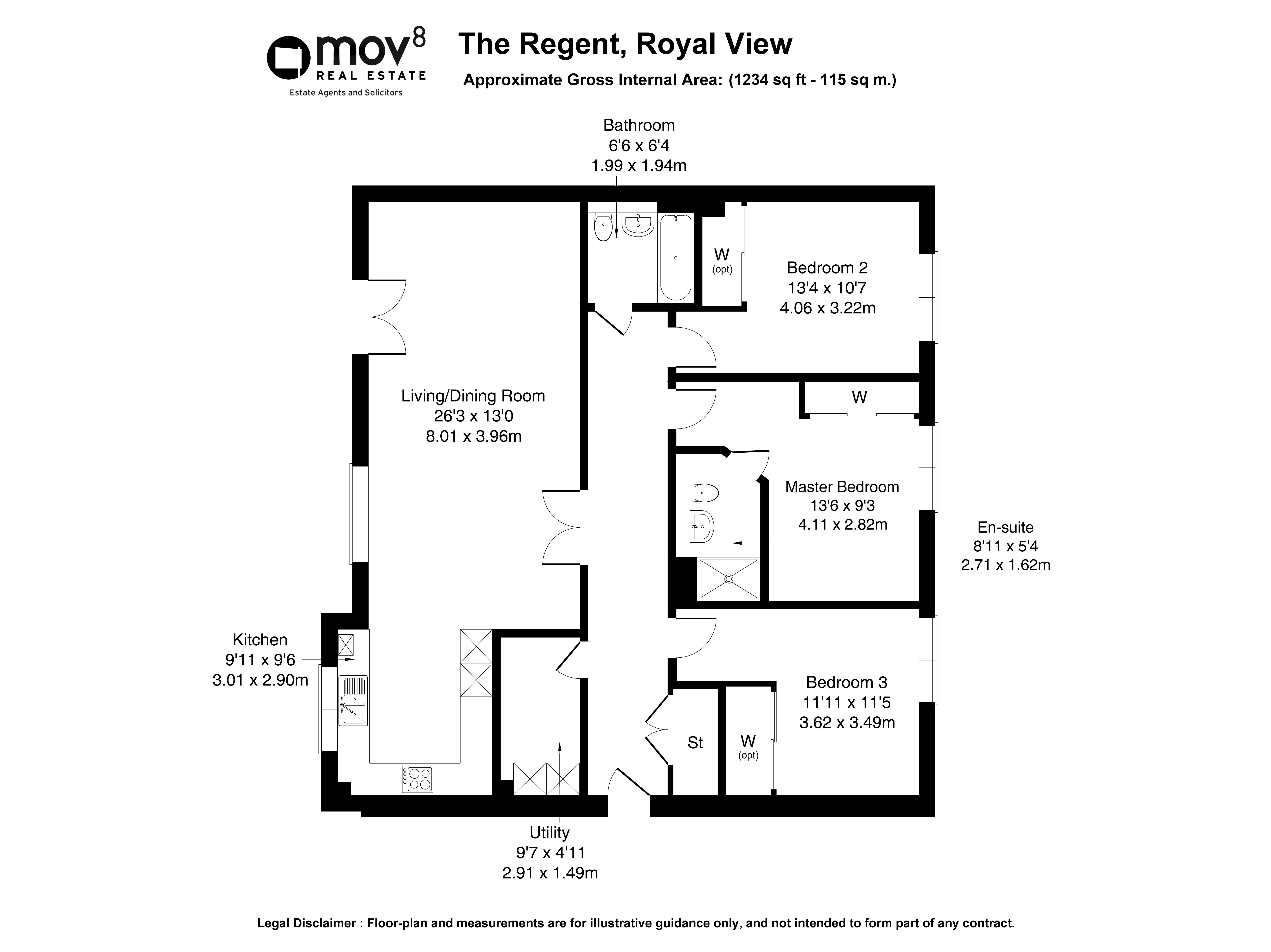 Floorplan 1 of Living by Robertson , Plot 5, The Regent Royal View, Sandpiper Drive, Leith, Edinburgh, Midlothian, EH6 6QJ