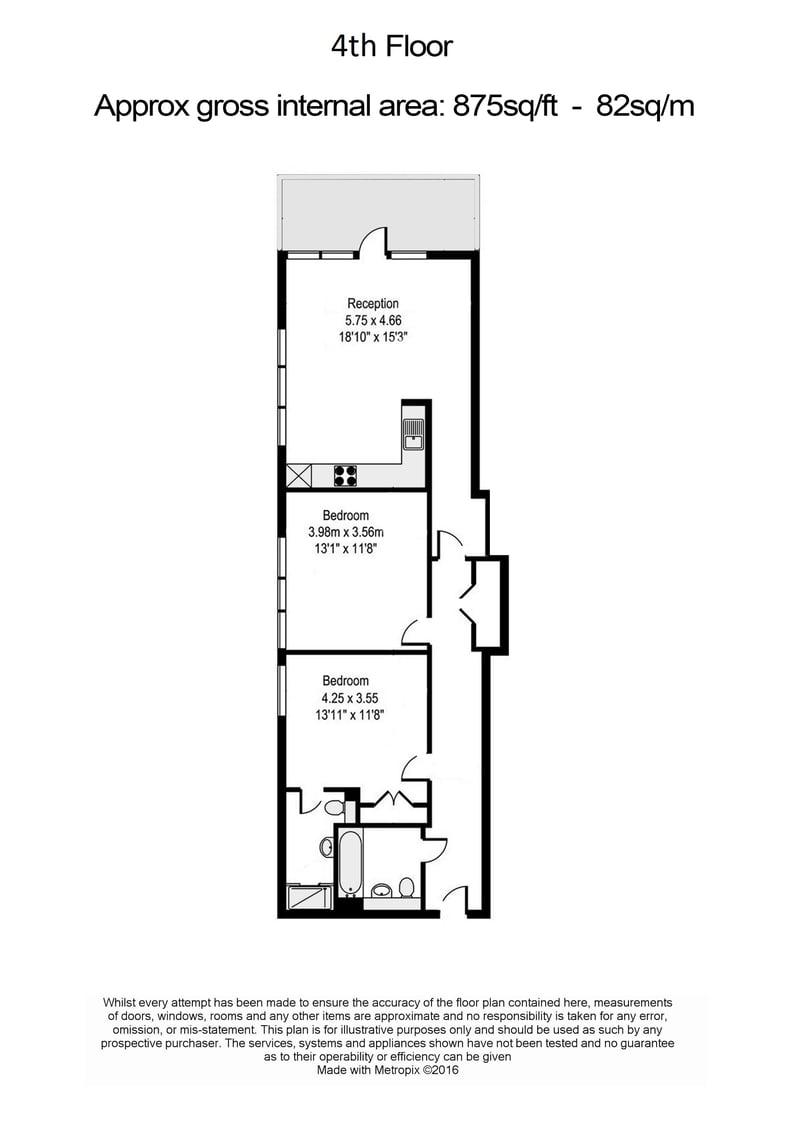 2 bedroom(s) apartment to sale in Beaufort Court, Maygrove Road, West Hampstead, London-Floorplan