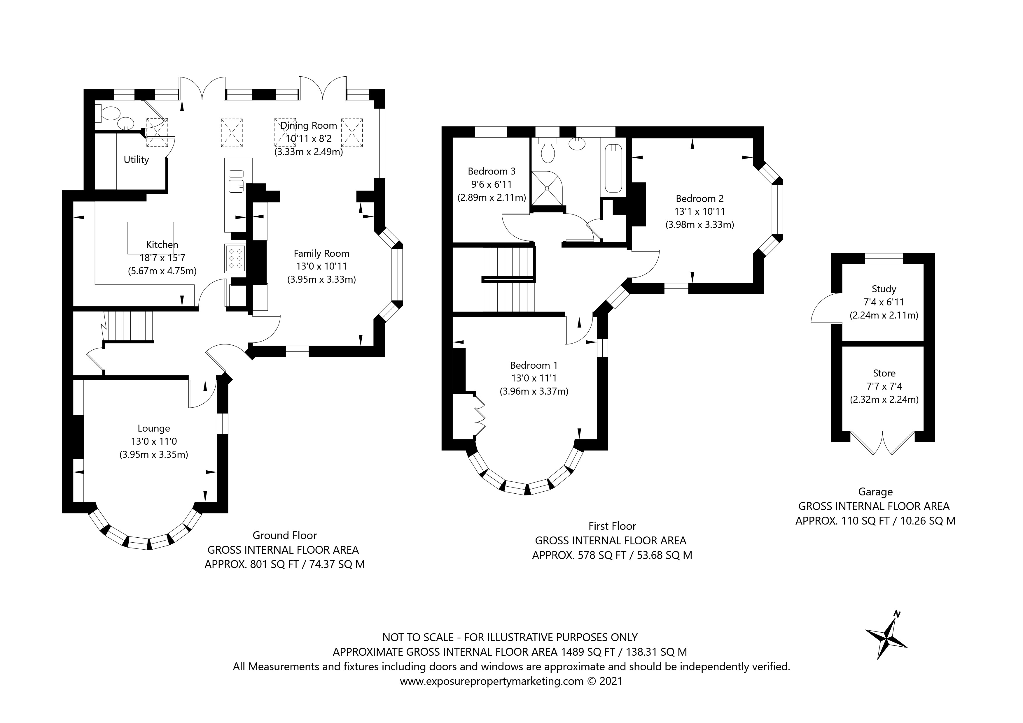 White House Gardens, York property floorplan