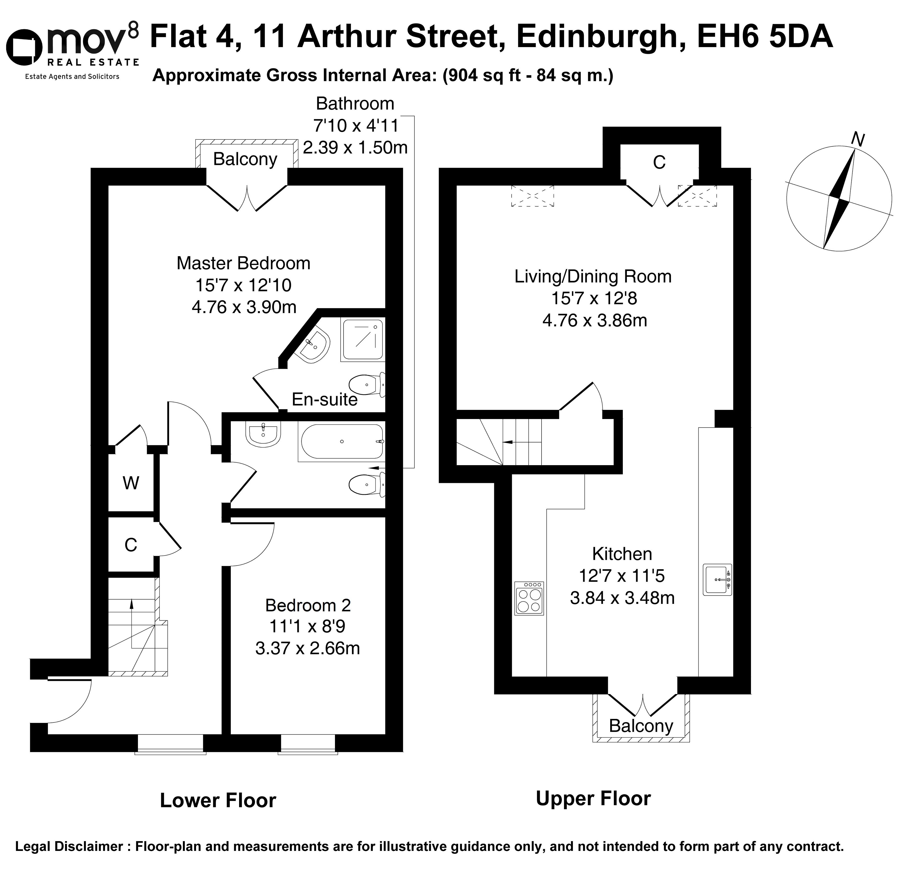 Floorplan 1 of Flat 4, 11 Arthur Street, Leith, Edinburgh, EH6 5DA
