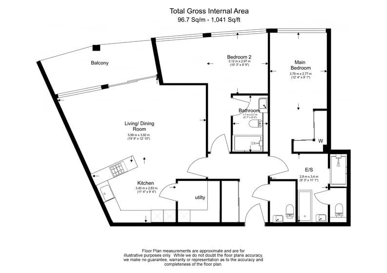 2 bedroom(s) apartment to sale in Queens Wharf, Crisp Road, Hammersmith-Floorplan