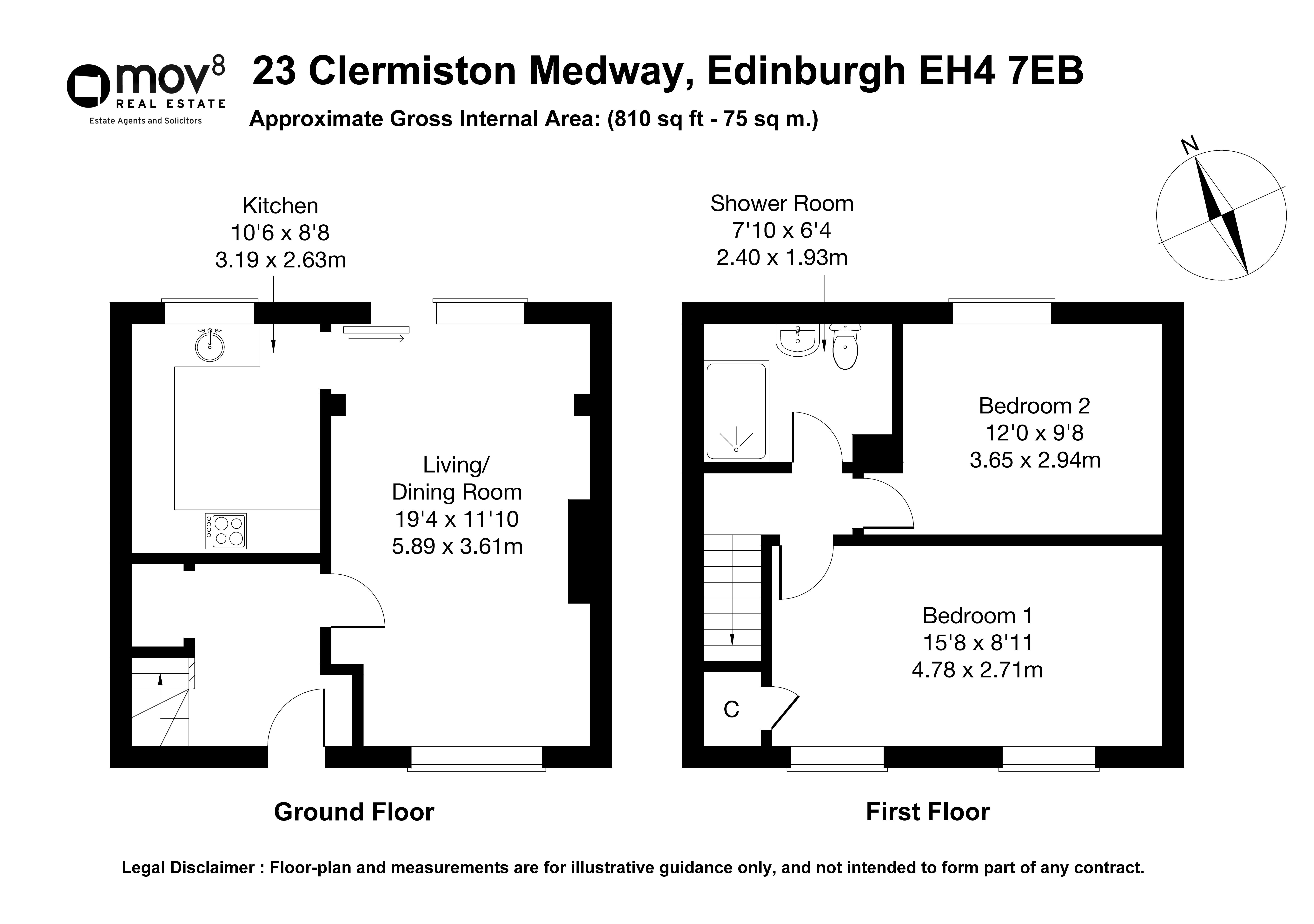 Floorplan 1 of 23 Clermiston Medway, Clermiston, Edinburgh, EH4 7EB