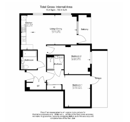 2 bedroom(s) apartment to sale in Western Avenue, Western Circus, Acton-Floorplan