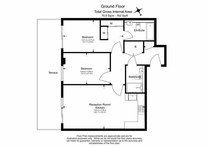 2 bedroom(s) apartment to sale in Napier House, Bromyard Avenue, London-Floorplan