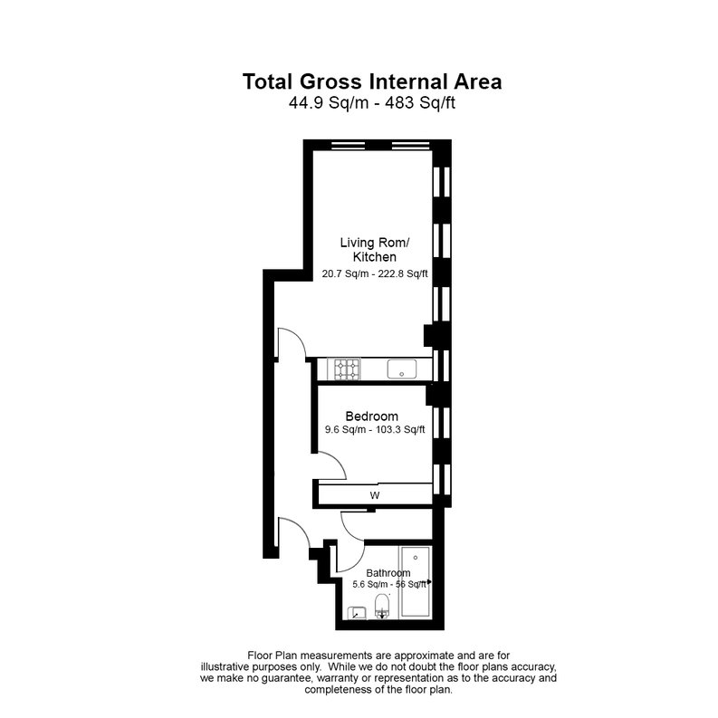1 bedroom(s) apartment to sale in Embassy Works, 12 Lawn Lane, Vauxhall-Floorplan