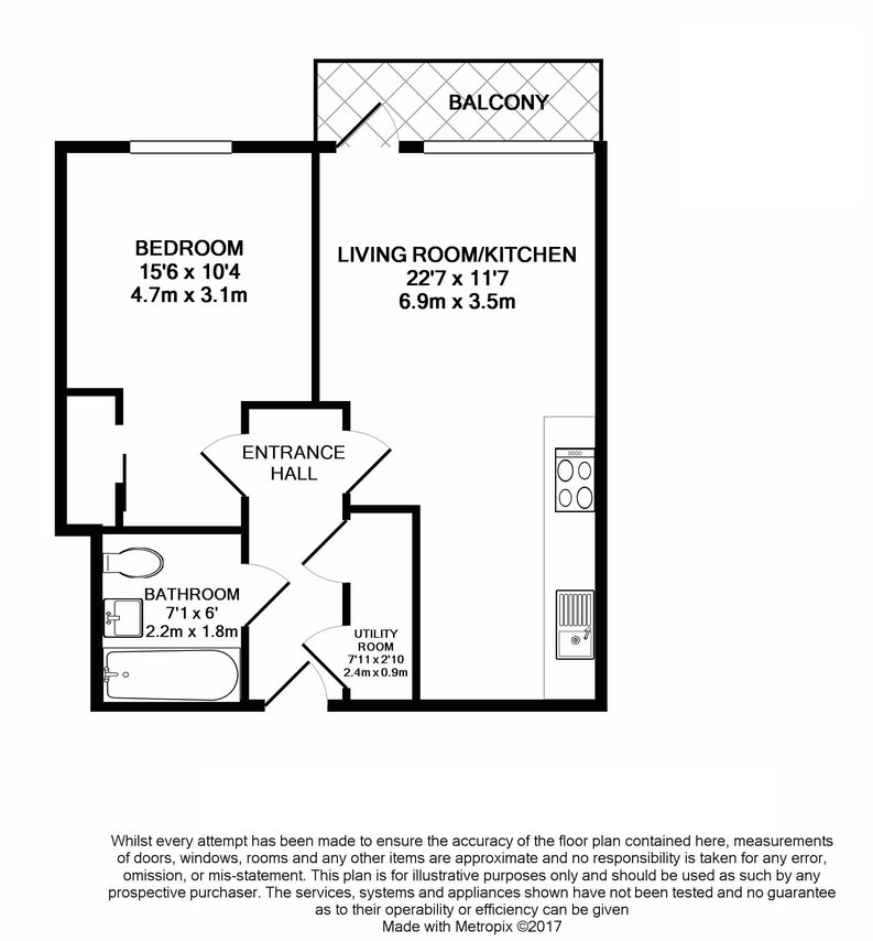 1 bedroom(s) apartment to sale in Worcester Point, Central Street, Clerkenwell, London-Floorplan