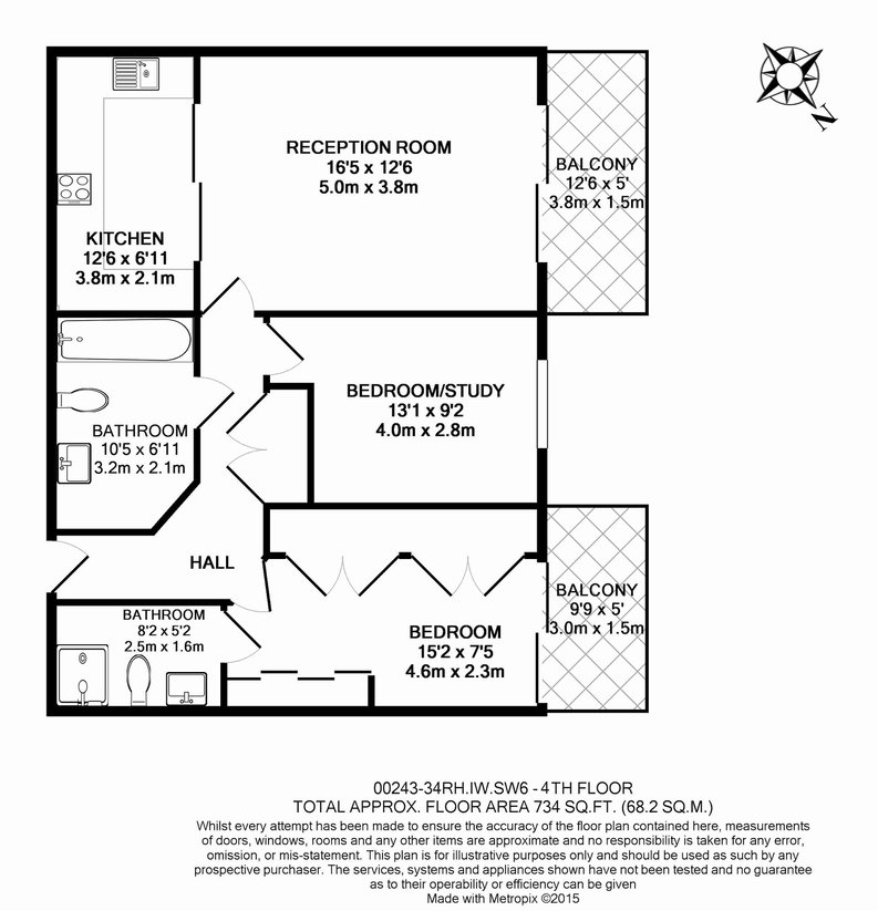 2 bedroom(s) apartment to sale in Regal House, Lensbury Avenue, Fulham-Floorplan