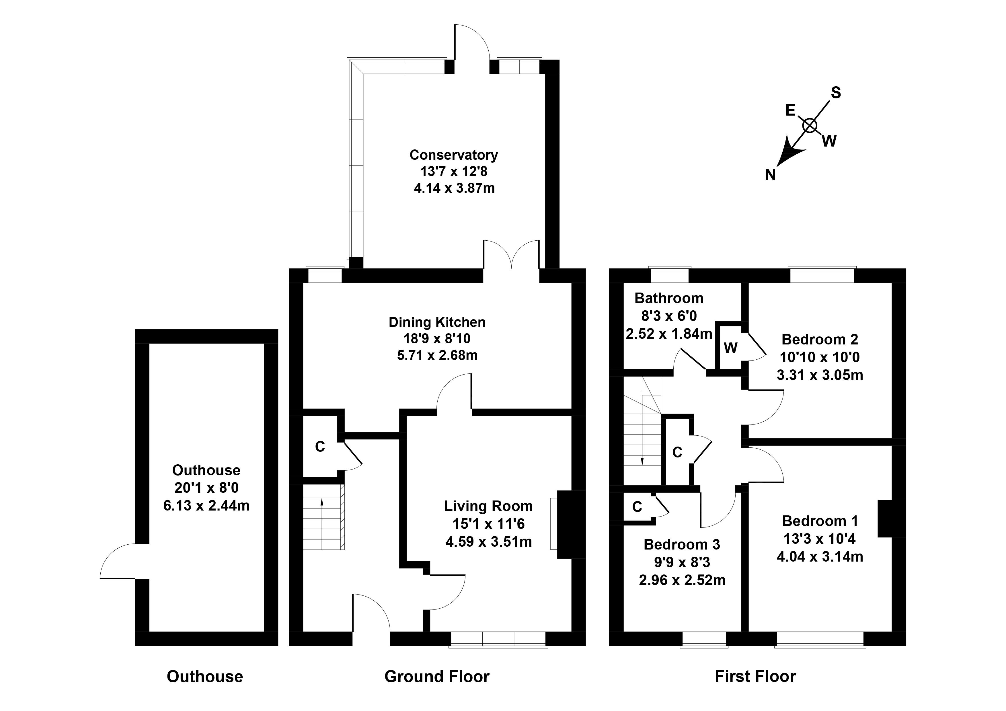 Floorplan 1 of 77 Kingsknowe Road North, Kingsknowe, Edinburgh, EH14 2DE