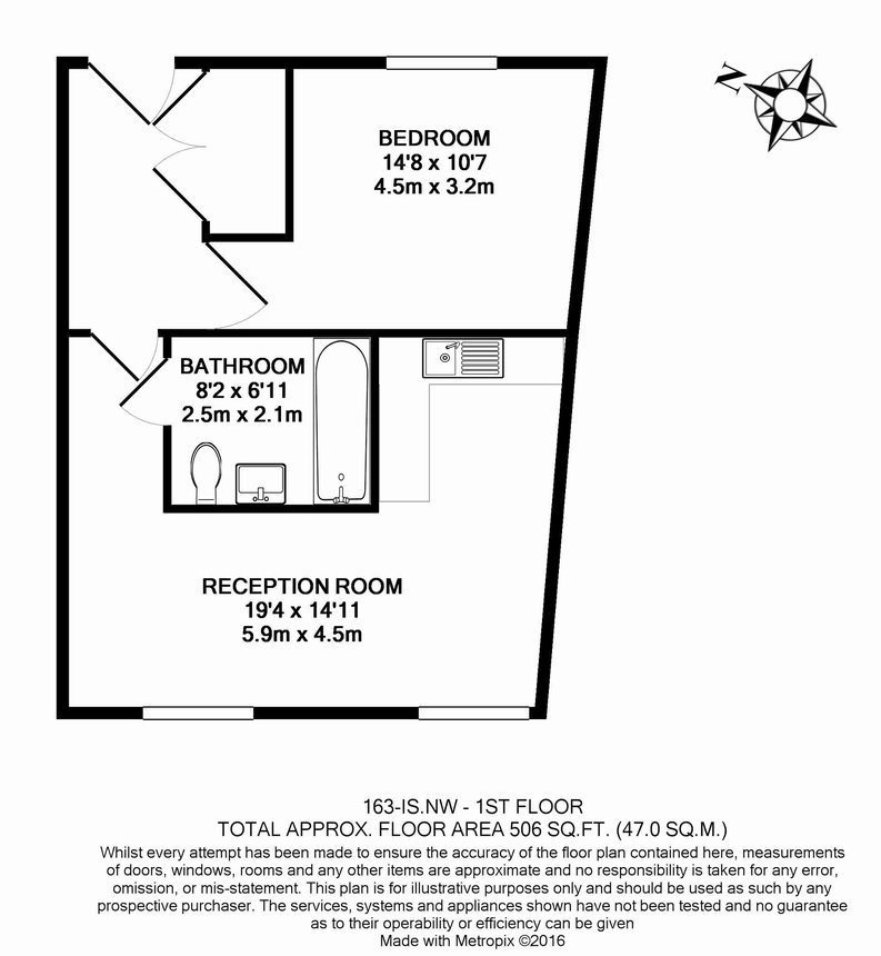 1 bedroom(s) apartment to sale in Iverson Road, West Hampstead, London-Floorplan