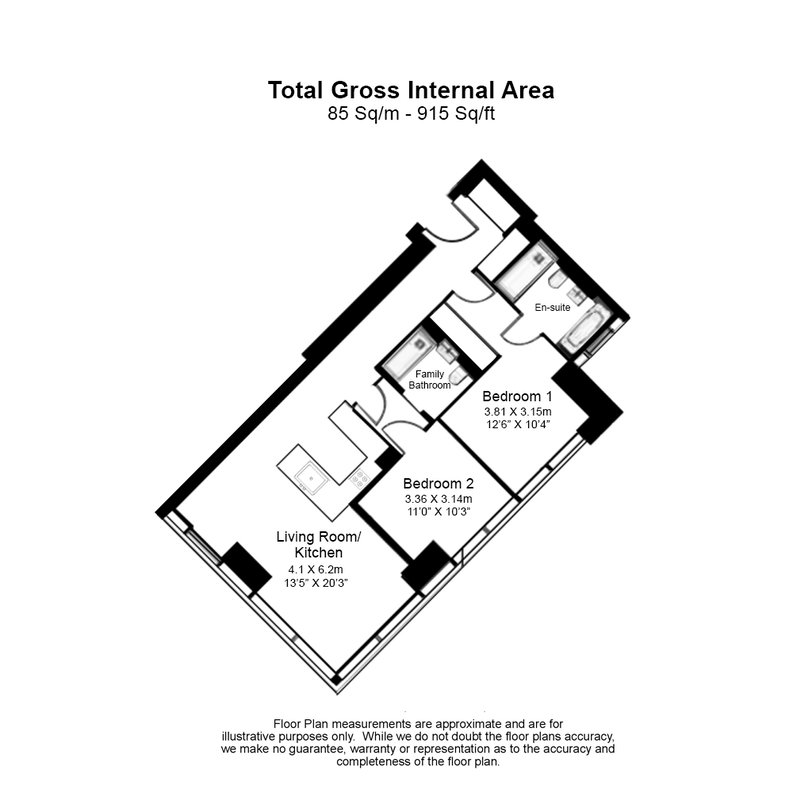 2 bedroom(s) apartment to sale in Hampton Tower, South Quay Plaza, 75 Marsh Wall, Canary Wharf-Floorplan