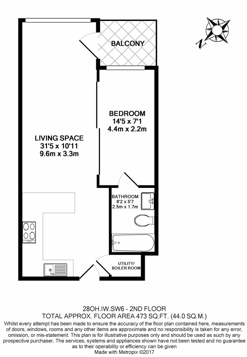 1 bedroom(s) apartment to sale in Octavia House, Townmead Road , Fulham-Floorplan