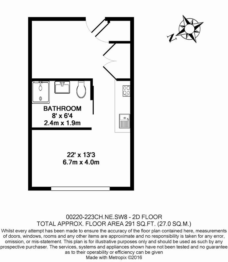 1 bedroom(s) apartment to sale in The Printworks, Clapham Road, Clapham-Floorplan