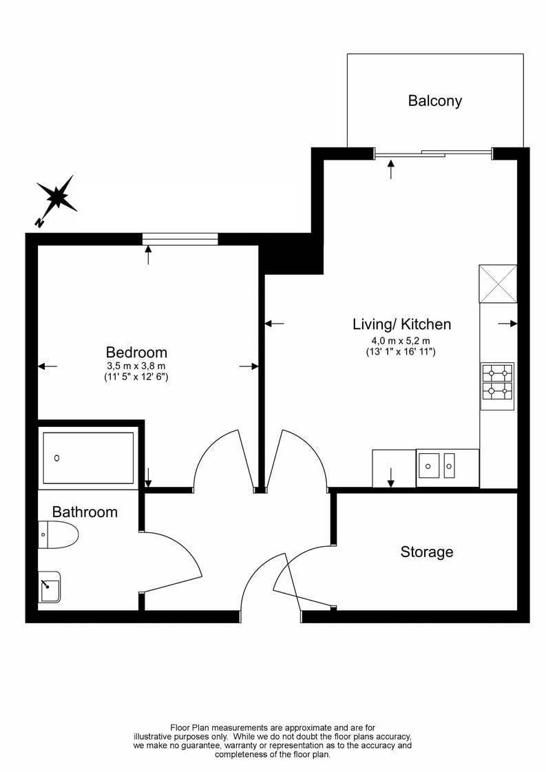 1 bedroom(s) apartment to sale in Bromyard Avenue, Napier West, London-Floorplan