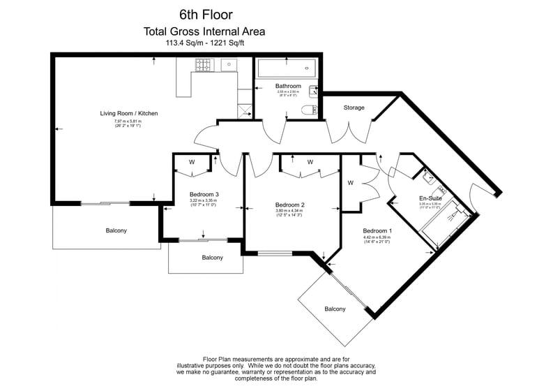 3 bedroom(s) apartment to sale in Chapman House, 24 Aerodrome Road, Beaufort Park , London-Floorplan