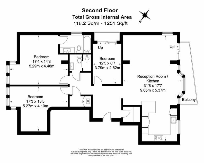 3 bedroom(s) apartment to sale in Drayton Gardens, Chelsea, London-Floorplan