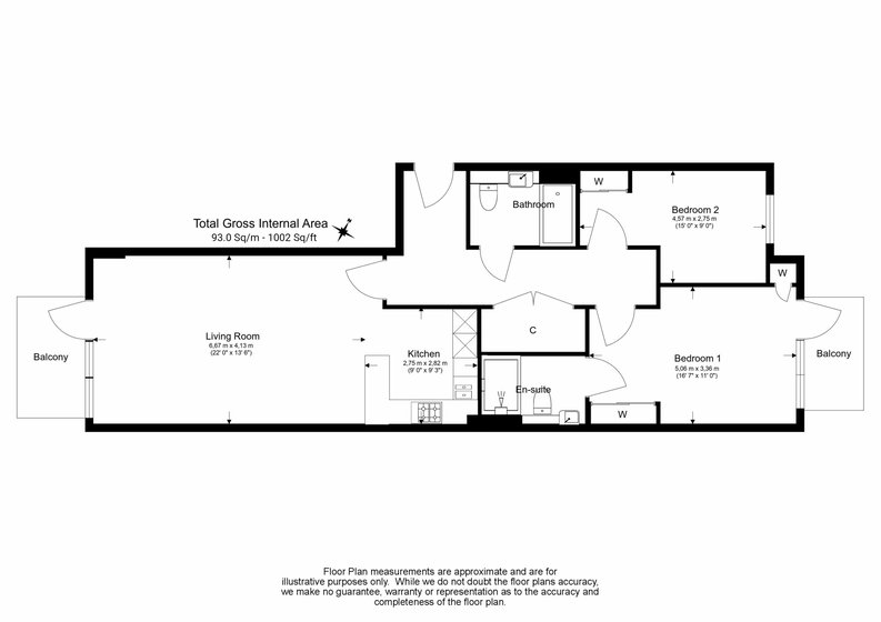 2 bedroom(s) apartment to sale in Regatta Lane, Fulham Reach, London-Floorplan