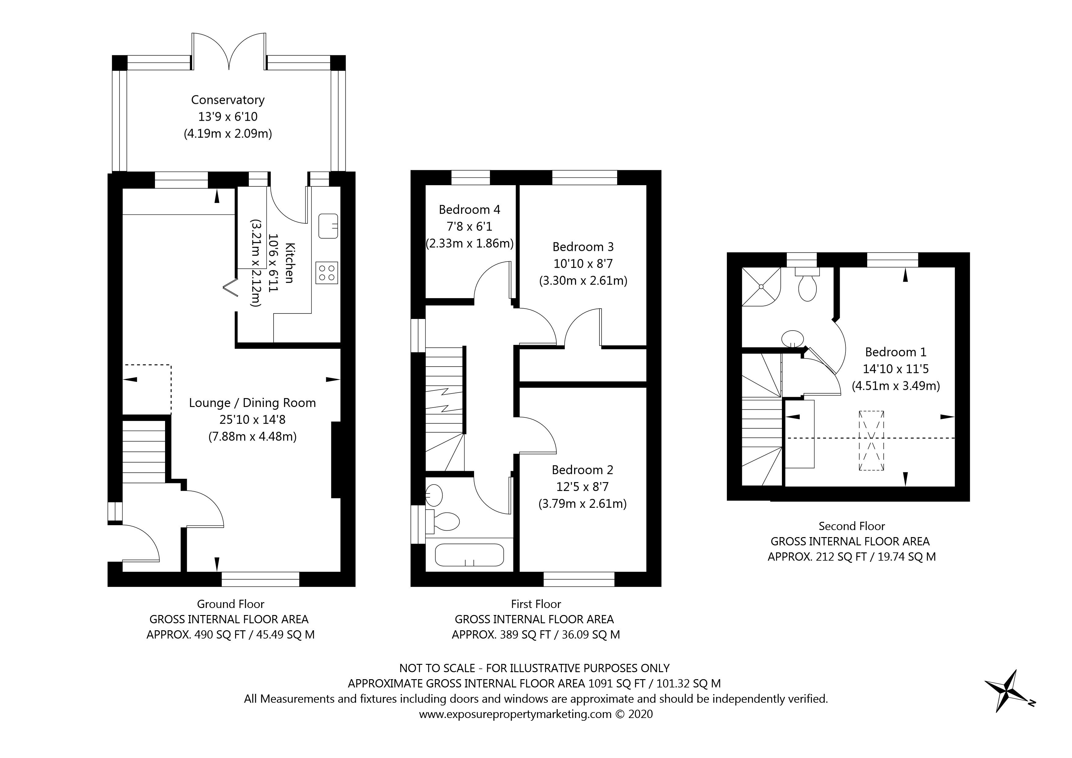 Chelkar Way, York property floorplan