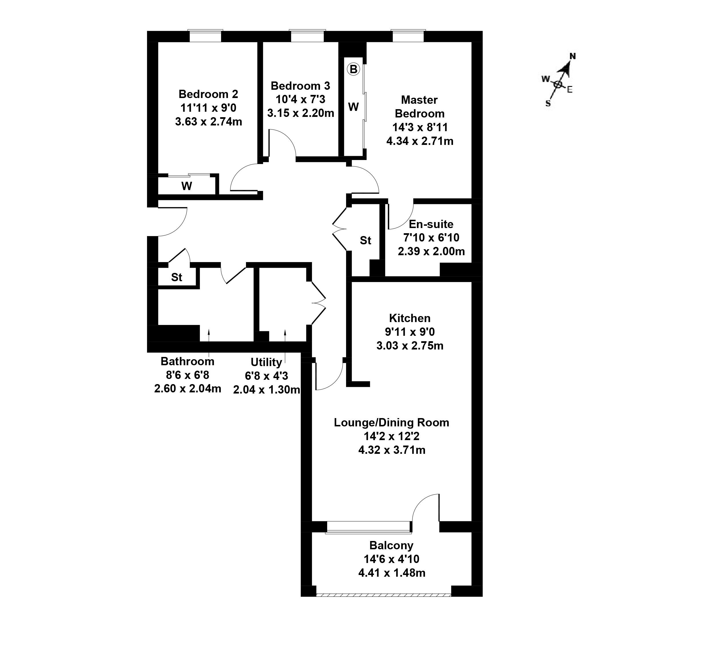 Floorplan 1 of Flat 6, 48 Annandale Street, Bellevue, Edinburgh, EH7 4FA