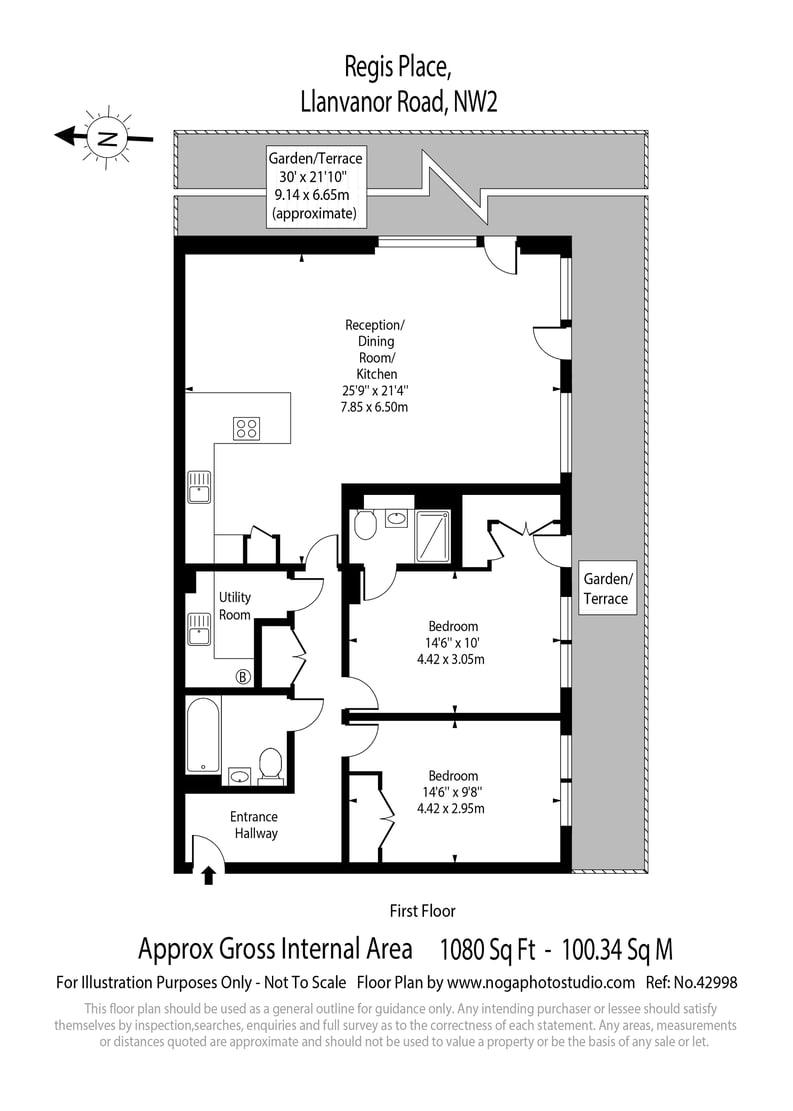 2 bedroom(s) apartment to sale in Regis Place, 10 Llanvanor Road, Childs Hill, London-Floorplan