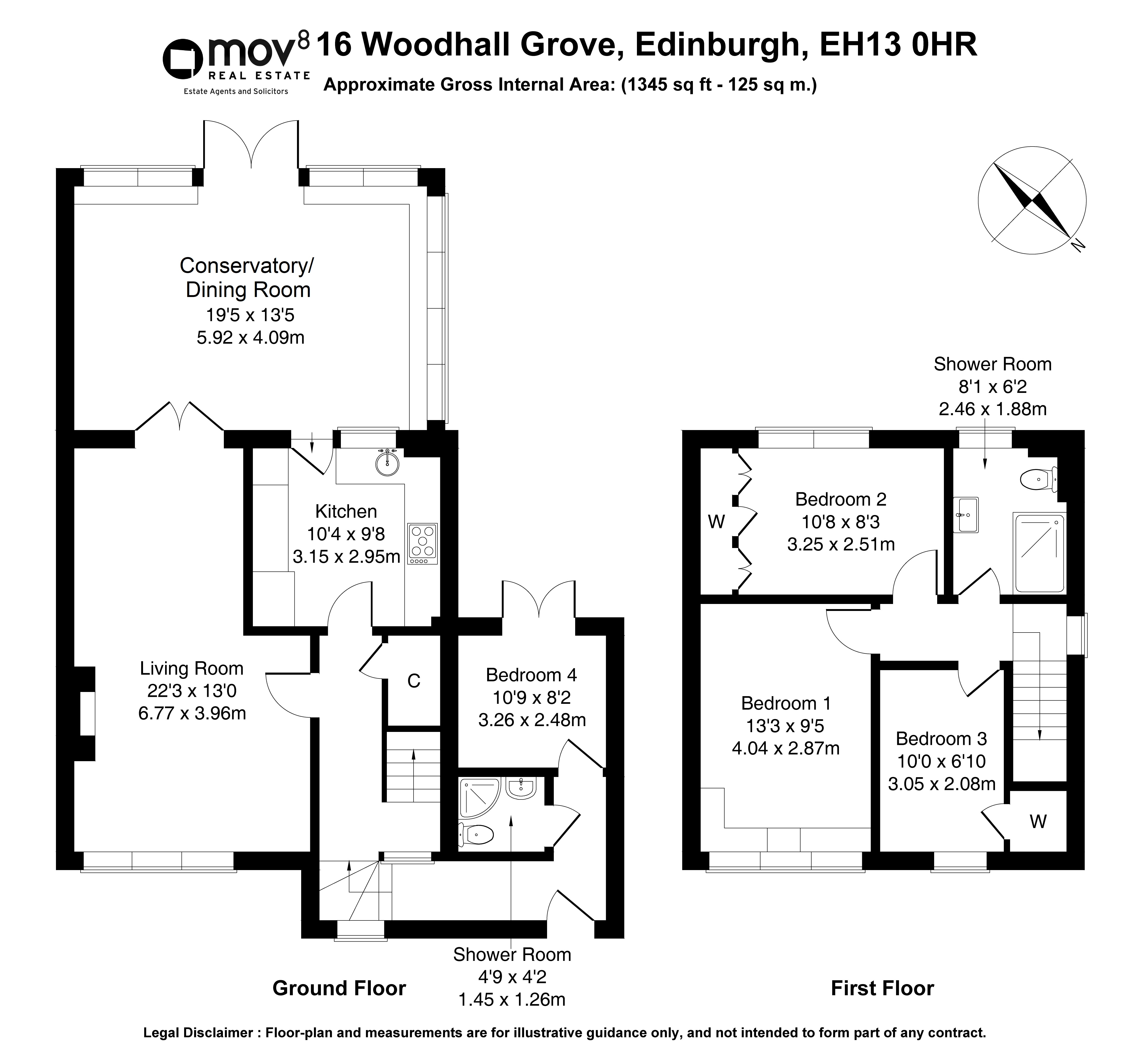 Floorplan 1 of 16 Woodhall Grove, Colinton, Edinburgh, EH13 0HR