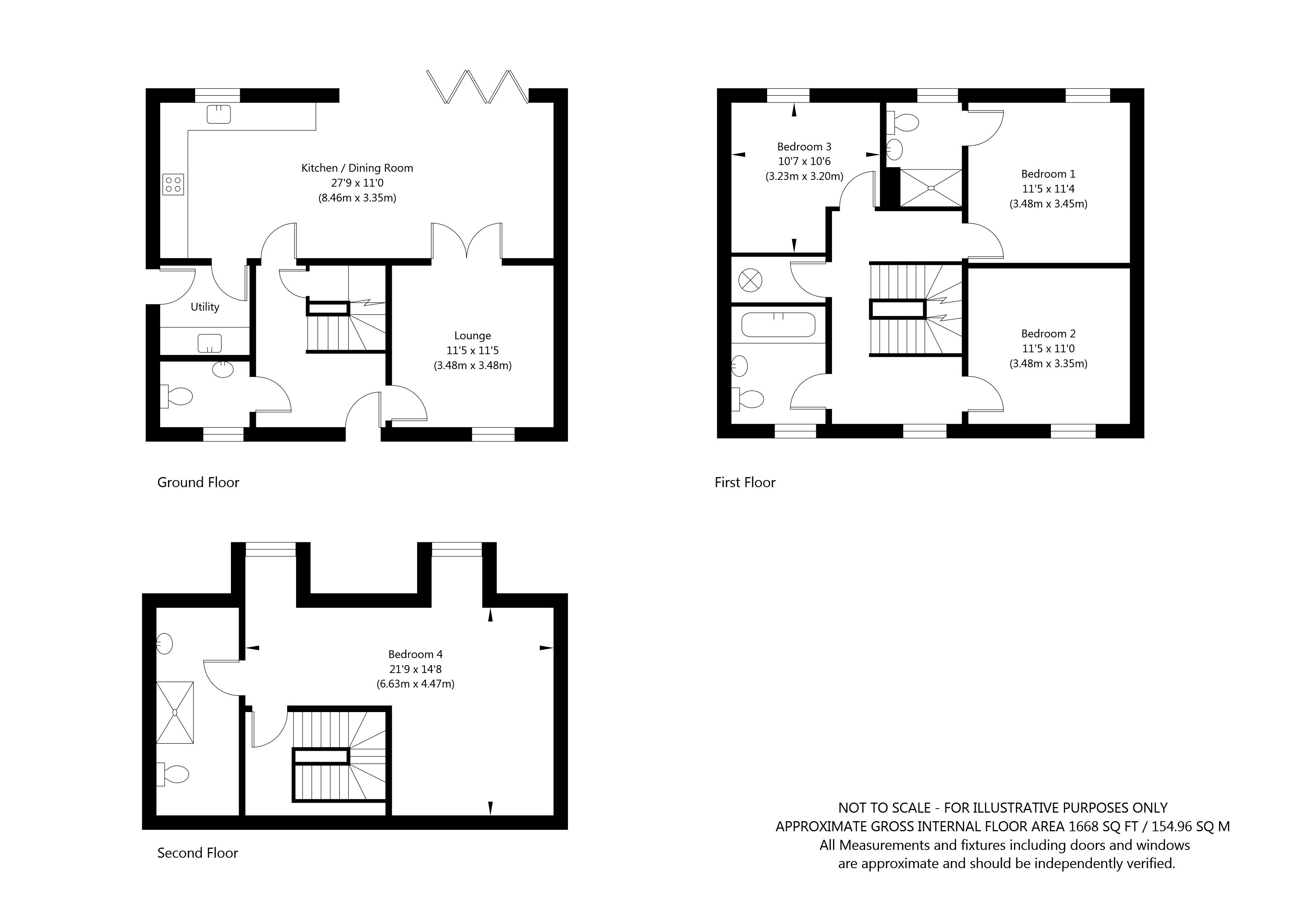 South View House , Main Street, Melbourne , York property floorplan