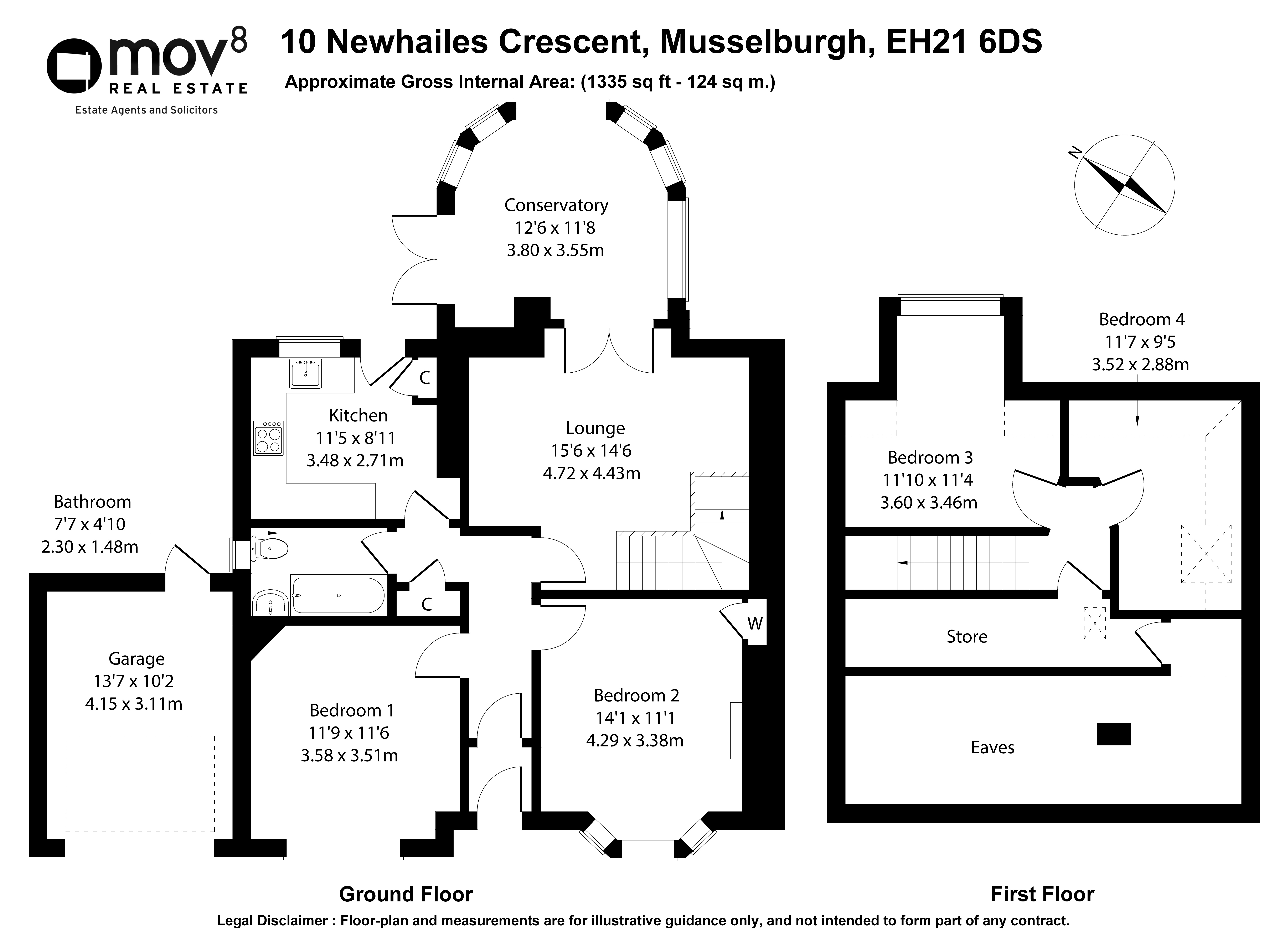 Floorplan 1 of 10 Newhailes Crescent, Musselburgh, East Lothian, EH21 6DS
