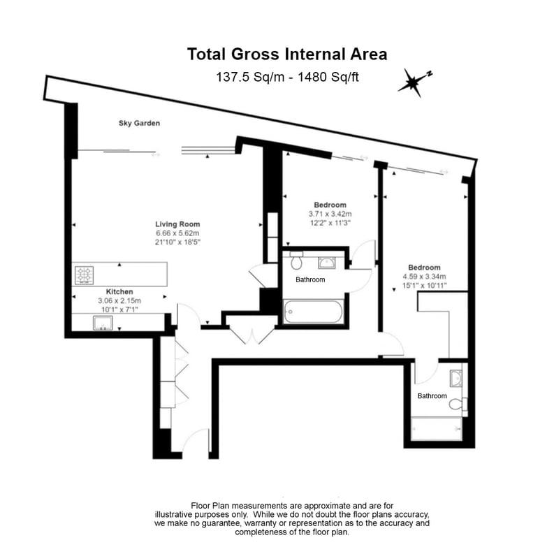 2 bedroom(s) apartment to sale in One Blackfriars, 1 Blackfriars Road, Southbank-Floorplan
