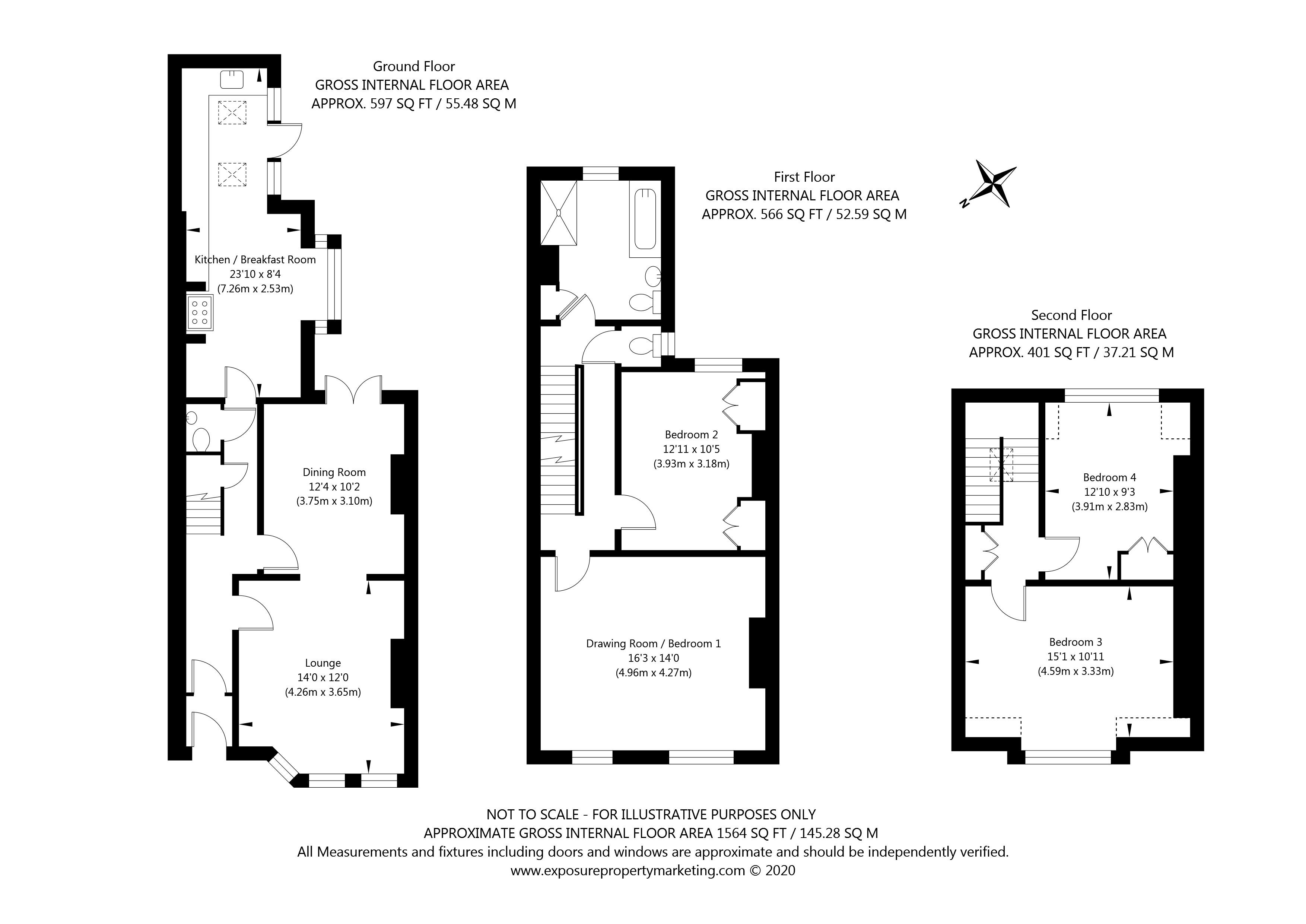 Queen Annes Road, York property floorplan