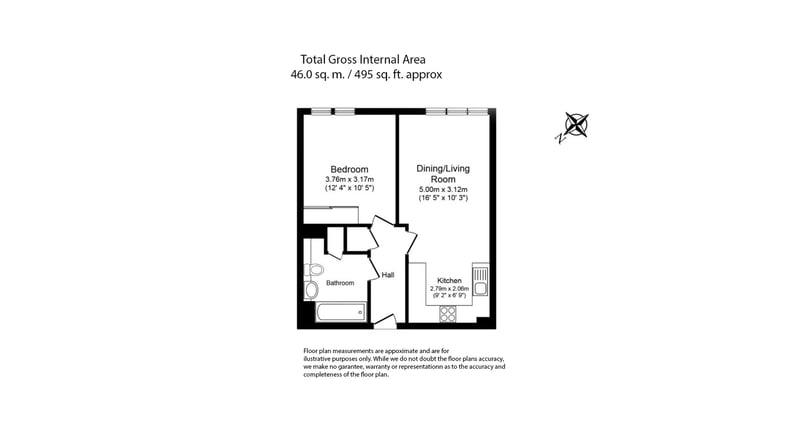 1 bedroom(s) apartment to sale in Altitude Point, 71 Alie Street, Aldgate East-Floorplan