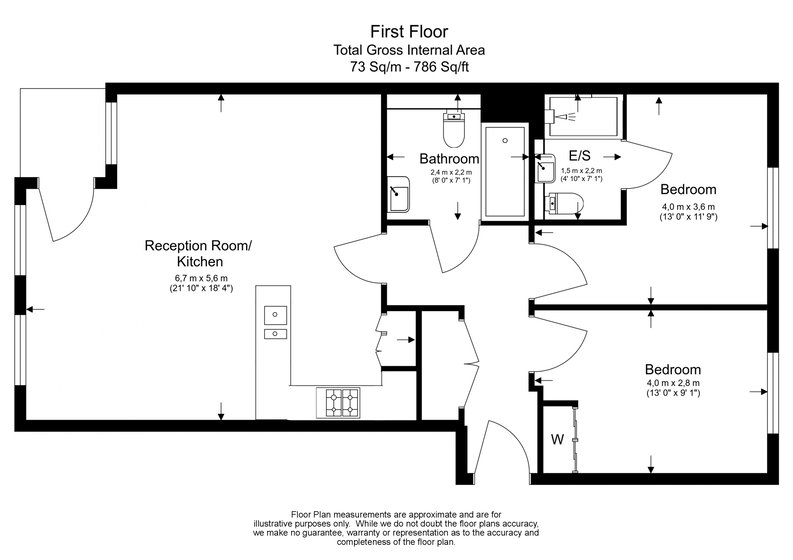 2 bedroom(s) apartment to sale in Bonchurch Road, Notting Hill , London-Floorplan
