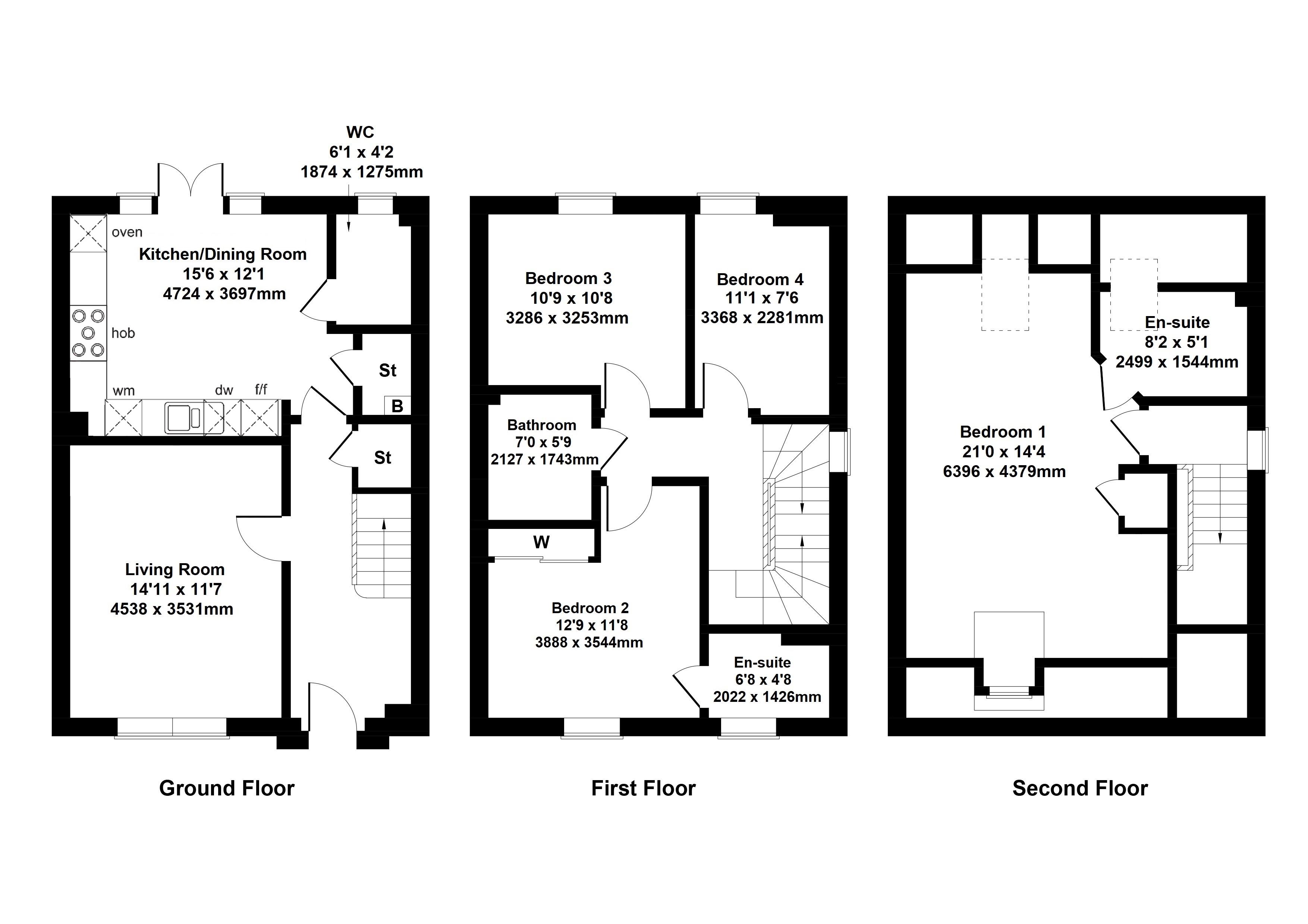 Floorplan 1 of The Campsie Barrochan Road, Brookfield, Johnstone, Renfrewshire, PA6 7AA