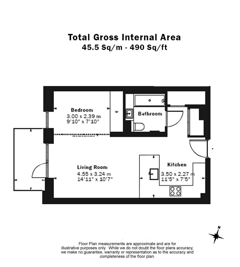 1 bedroom(s) apartment to sale in Belvedere Row, White City Living, White City-Floorplan