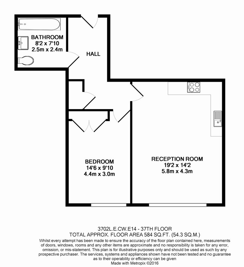 1 bedroom(s) apartment to sale in Marsh Wall, Canary Wharf, London-Floorplan