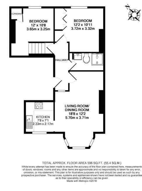 2 bedroom(s) apartment to sale in Claremont Road, Cricklewood, London-Floorplan