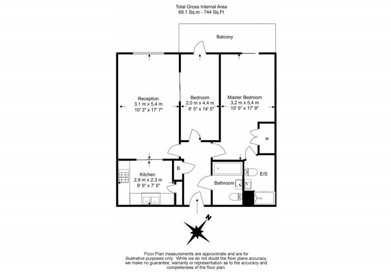 2 bedroom(s) apartment to sale in 11 Sheldon Square, Paddington-Floorplan